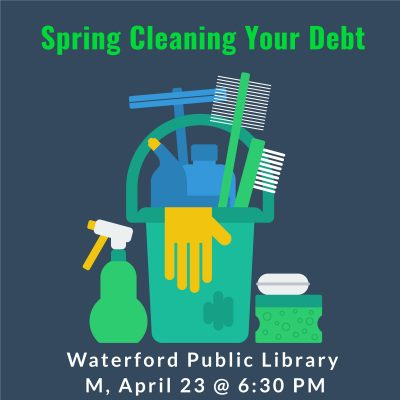 Spring cleaning your debt with cleaning supplies